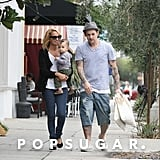 Nicole Richie and Joel Madden brought Sparrow along to run errands around LA in September 2011.