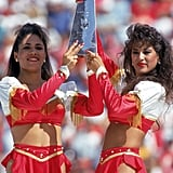 In 1985, the 49ers cheerleaders rocked supershort skirts and were totally OK with it, because sun.