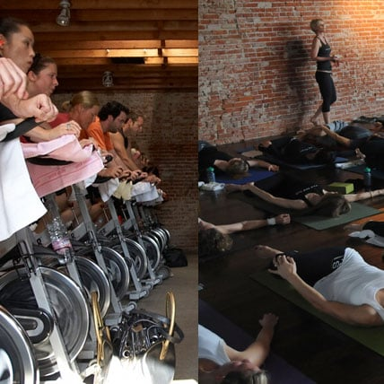 Spinning and Yoga Together in One Fitness Class