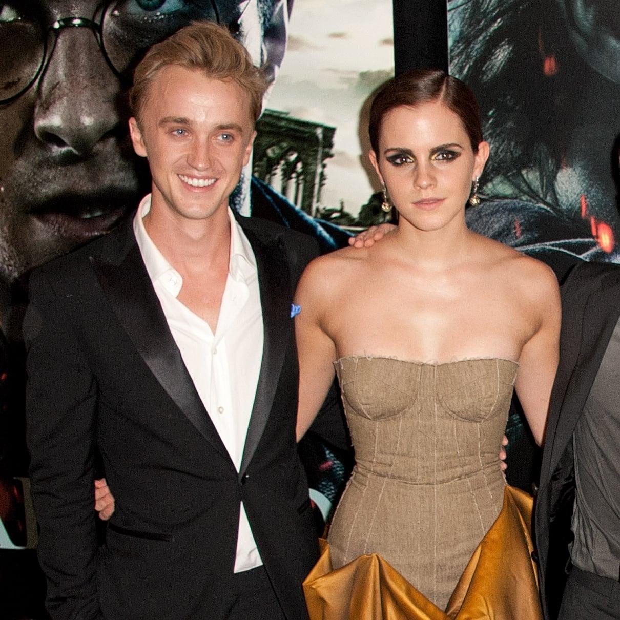 Tom Felton and Emma Watson Play on Harry Potter Set   POPSUGAR Celebrity UK