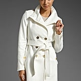 Juicy Couture Solid Tricotine Trench ($398)