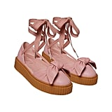 Creeper Bow Sandal in Silver Pink