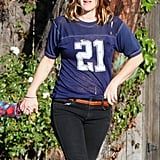 Drew Barrymore wore an old tee.