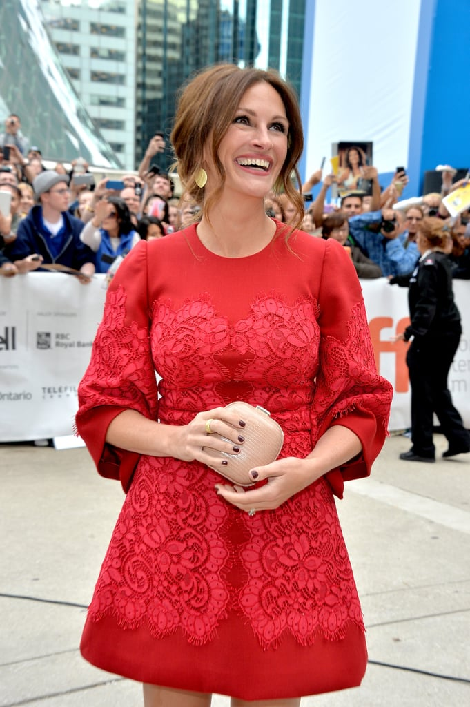 Julia Roberts smiled for fans.