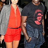 Heidi Klum and Seal stopped for a quick photo.