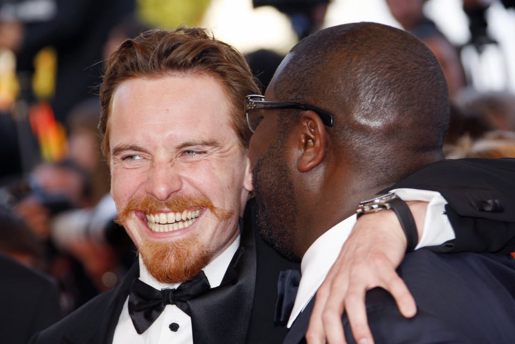 Michael Fassbender's facial hair was the center of attention at a May 2008 Cannes premiere of Hunger with director Steve McQueen.