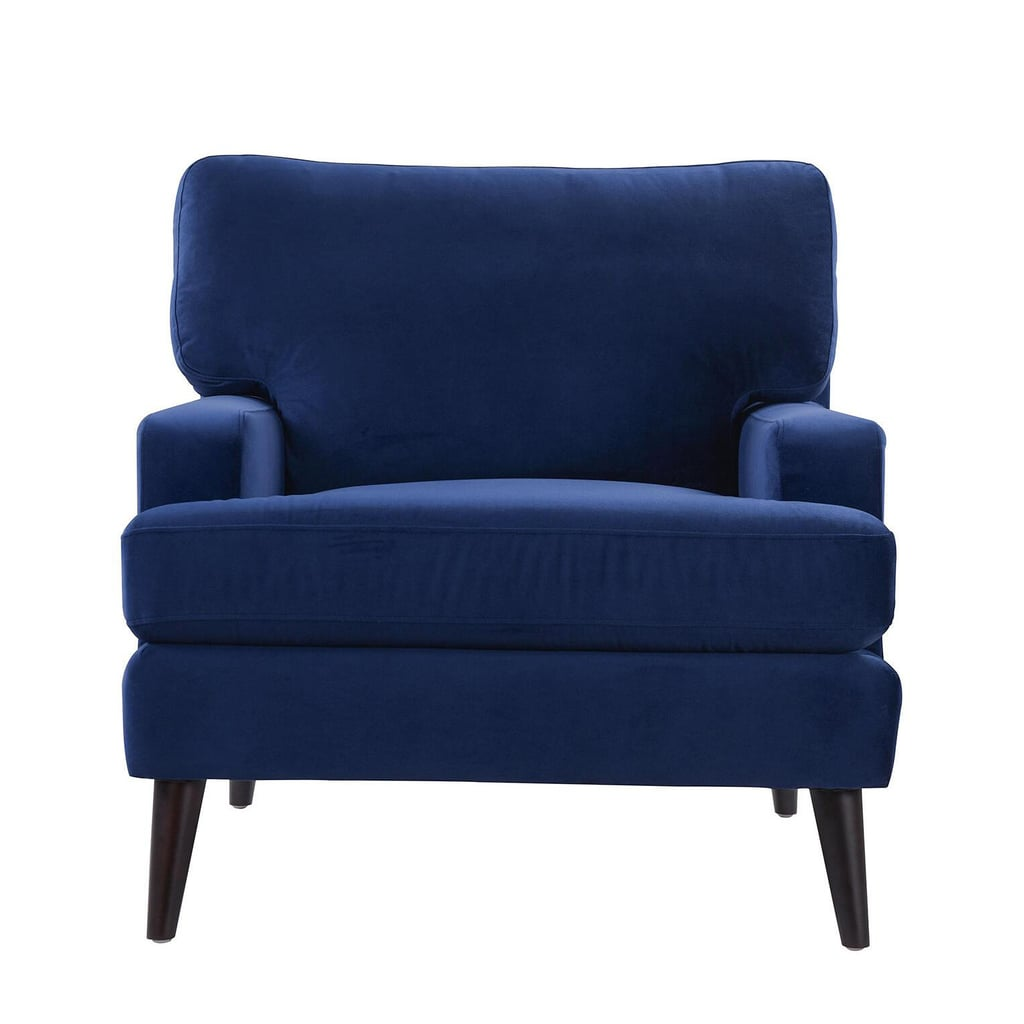 Jennifer Taylor Enzo Navy Blue Lawson Accent Chair