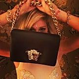 Ellie Goulding showed off a seriously amazing Versace handbag. Source: Instagram user elliegoulding