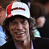 Musician Mick Jagger was seen in the stands.