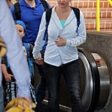 Britney Spears arrived in Maui with her family.