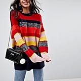 ASOS Oversized Sweater in Stripe