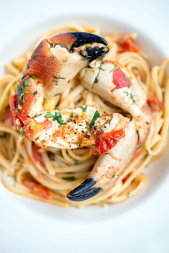 Linguine with Crab Claws and Tomatoes