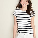 Slim-Fit Striped Tee for Women