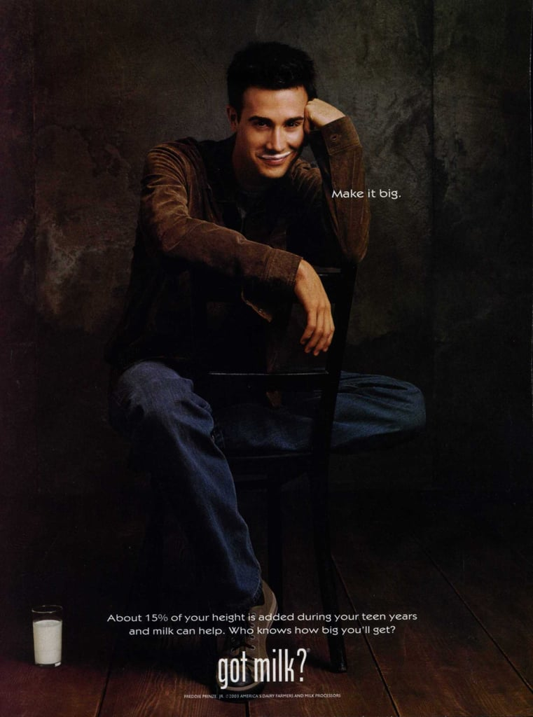 "Freddie Prinze Jr. gave a sweet smirk in his ""Got Milk?"" ad."