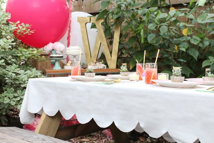 A Scalloped Table Cloth