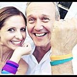 Sarah and Anthony reunited in July 2014. Source: Twitter user RealSMG