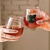 Meow Stemless Wine Glass Set ($16)
