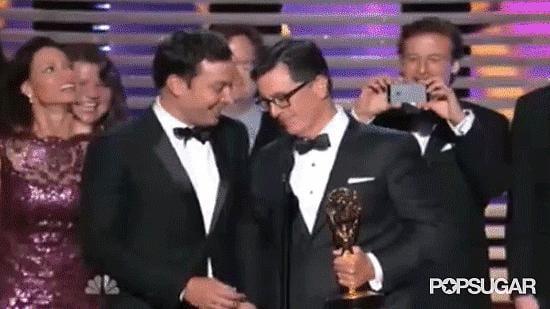 Jimmy's Crashing of The Colbert Report's Win
