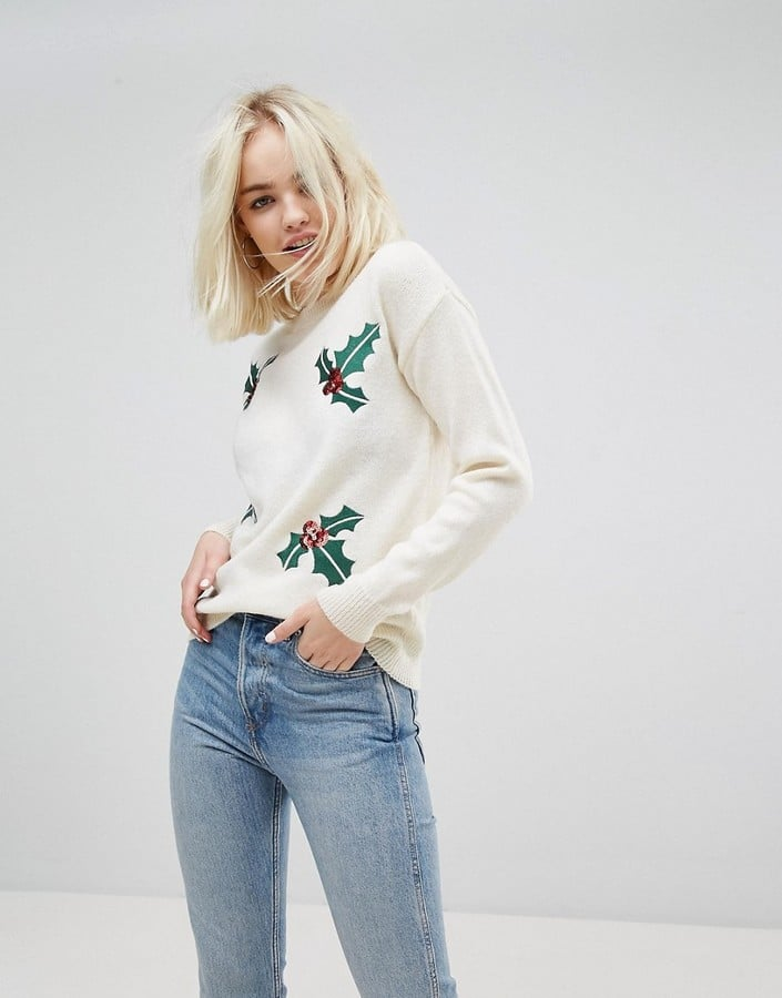 df7742e33e9429 New Look Sequin Embellished Christmas Jumper | Ugly Christmas ...