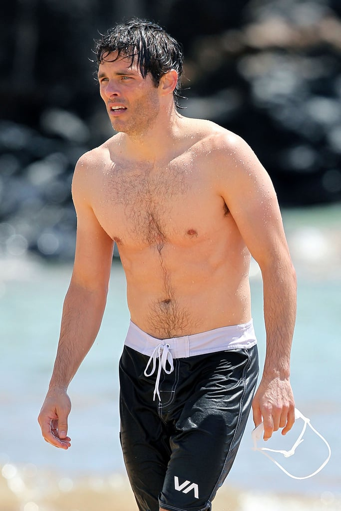James Marsden took a swim in the water in Hawaii.