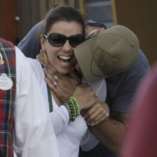 Pictures of Eva Longoria and Eduardo Cruz Kissing at Disneyland