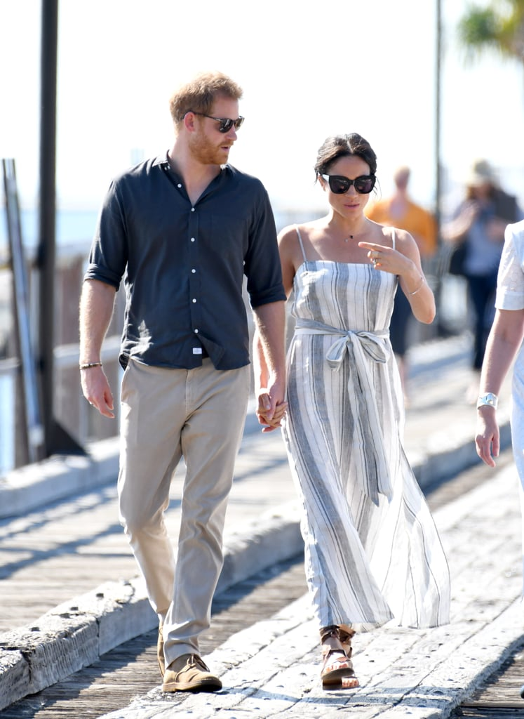 Meghan Wore the Reformation Dress With Sarah Flint Sandals