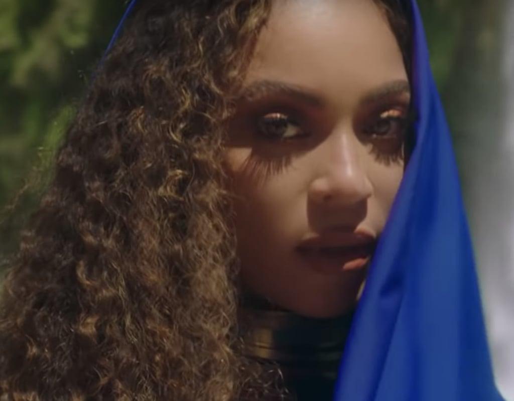 "Beyoncé's Gold Makeup and Matte Lipstick in ""Spirit"" Music Video"