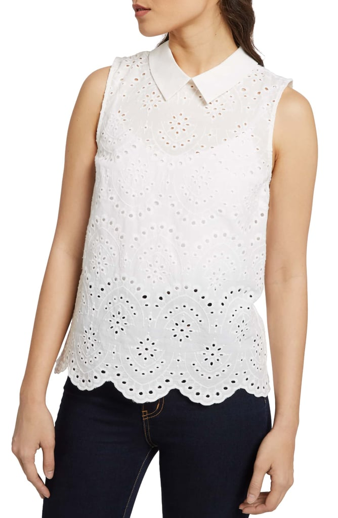 Modcloth Eyelet in the Sun Top