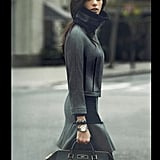 Bundle up, like Ashley Greene, in grays for DKNY.
