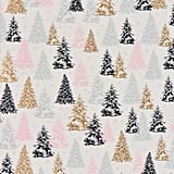 Blush and Grey Foil Trees Wrapping Paper