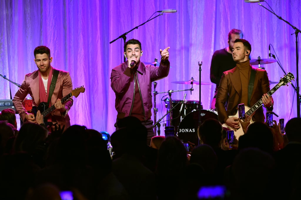 "On Feb. 27, the Jonas Brothers stepped out to support the Women's Cancer Research Fund at a gathering in Los Angeles. The event was held to celebrate the organization's efforts to finance studies, education, and outreach for the development of diagnosing, treating, and preventing women's cancers. At the get-together, Kevin, Joe, and Nick wore colorful coordinating outfits and showed their brotherly love on the red carpet. They also posed for a few photos with Rita Wilson, who was honored with the Courage Award for her constant support of the foundation. Inside Beverly Wilshire hotel venue, the trio took the stage to perform hits such as ""Only Human"" and ""Sucker."" Their appearance came shortly after they wrapped their Happiness Begins tour in Paris and spent some time with their respective wives. Next on the brothers' list is their Las Vegas residency, which kicks off on April 1. But before they hit up the Entertainment Capital of the World, check out all the photos from their evening with the Women's Cancer Research Fund!"