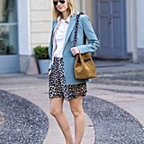 A sophisticated blazer and kitten heels makes these mid-length shorts office appropriate.