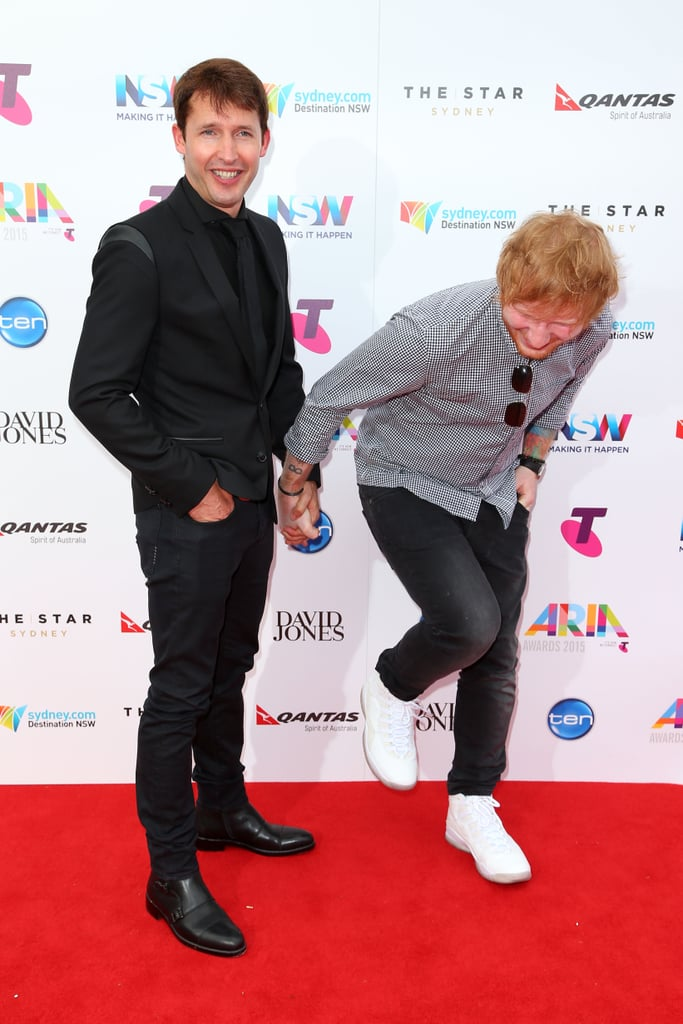 2015: James Blunt and Ed Sheeran