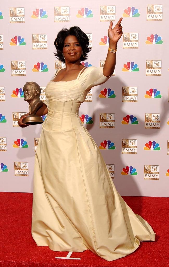 Oprah Winfrey at the 2002 Emmy Awards