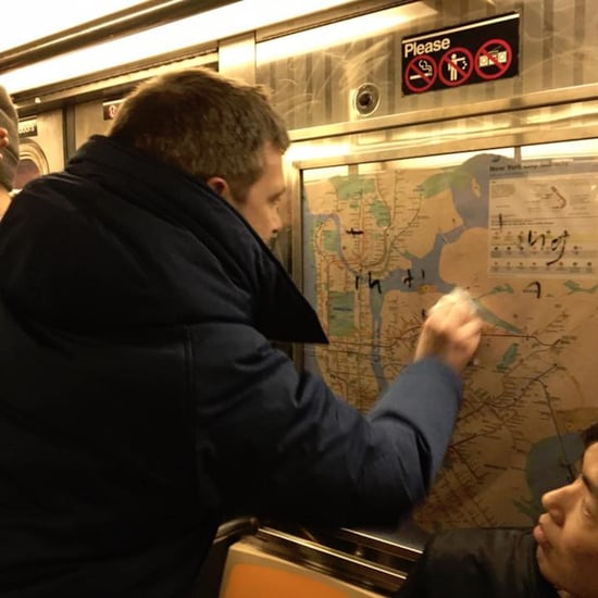 New York City Commuters Remove Anti-Semitic Subway Graffiti