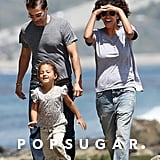 Halle Berry and Olivier Martinez were on the beach in Malibu, CA, with Nahla in early May 2012.