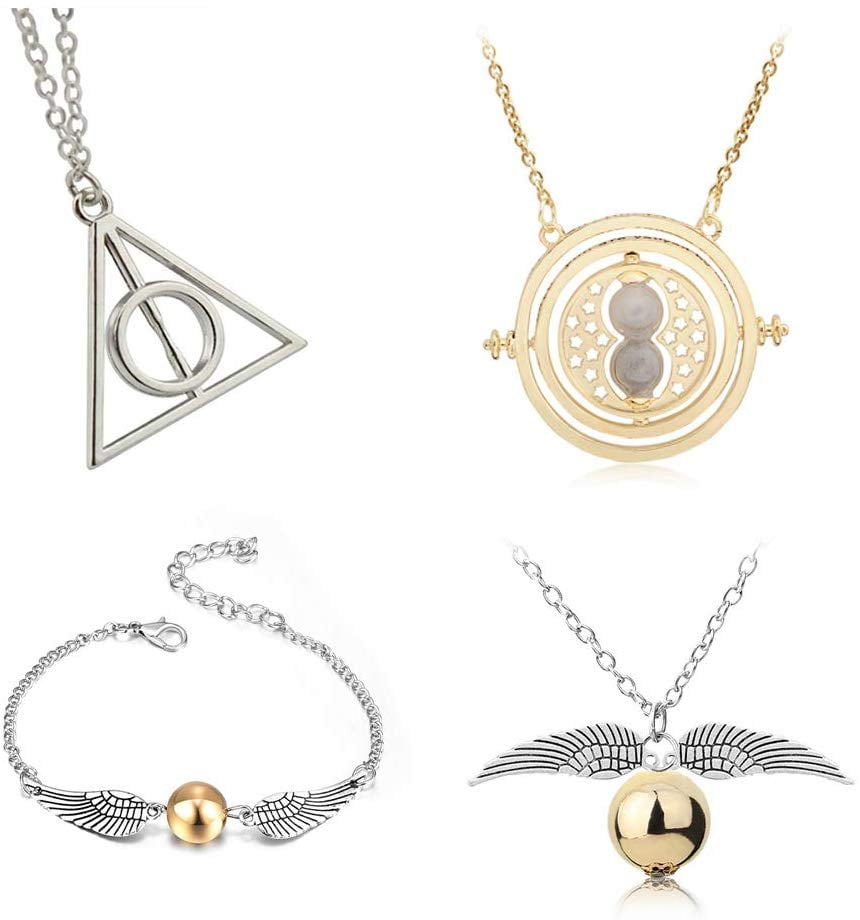 4-Piece Harry Potter-Inspired Necklace Set