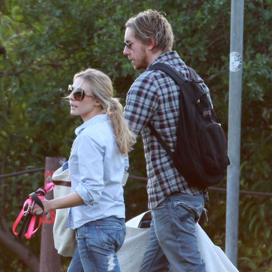 Kristen Bell and Dax Shepard Park With Dog Pictures in LA