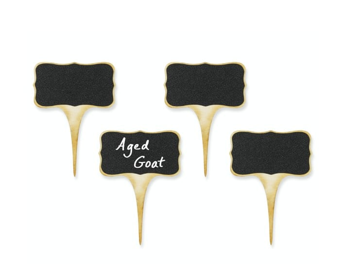 Williams-Sonoma Chalkboard Cheese Markers, Set of 4 ($20)