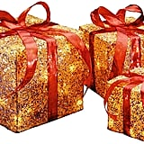 National Tree Outdoor Gold Sisal Gift Boxes