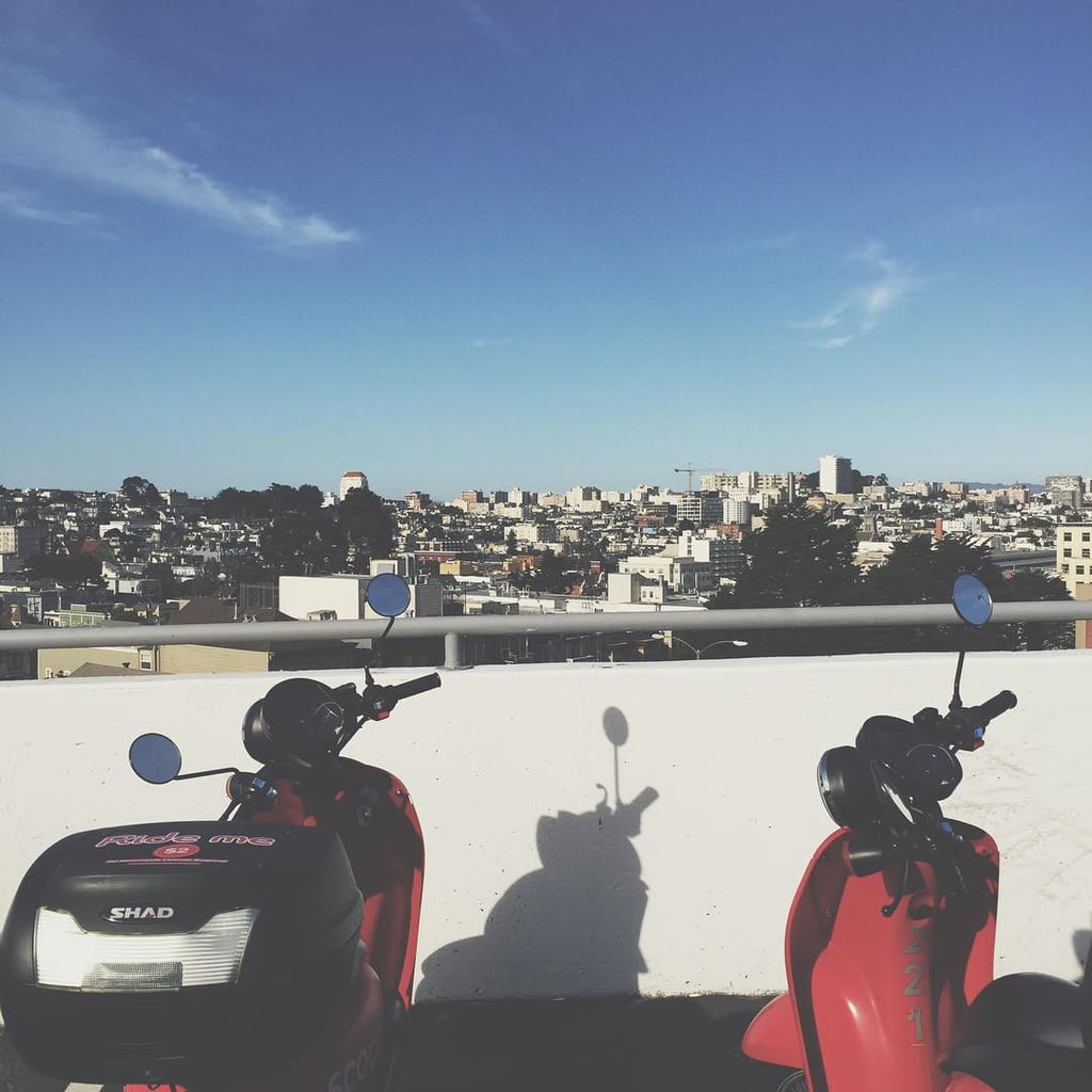Rent Vespas and explore your city on a beautiful day.
