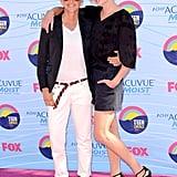 Ellen DeGeneres and Portia de Rossi struck a pose at the July 2012 Teen Choice Awards in LA.