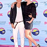 Ellen and Portia struck a pose at the July 2012 Teen Choice Awards in LA.