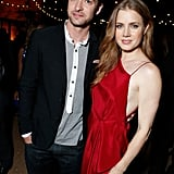 Amy Adams and Justin Timberlake posed together at their after-party for the Trouble With the Curve premiere in LA.