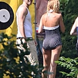 Blake Lively wore a polka-dot swimsuit to celebrate the Fourth of July with Ryan Reynolds in New York.