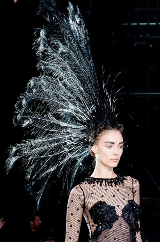 Among all the Parisian runway shows, this towering headpiece from the Louis Vuitton Spring 2014 presentation was a fan favorite. Talk about that wow factor.