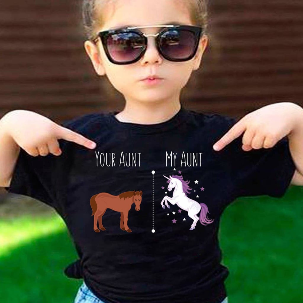 your aunt my aunt horse unicorn kids' shirt | popsugar moms