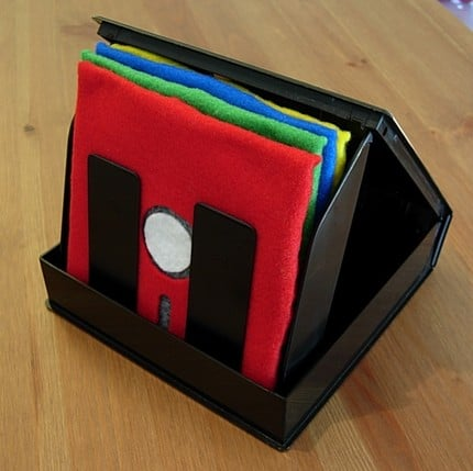 Floppy Disk Coaster Set Makes Floppies Useful Again