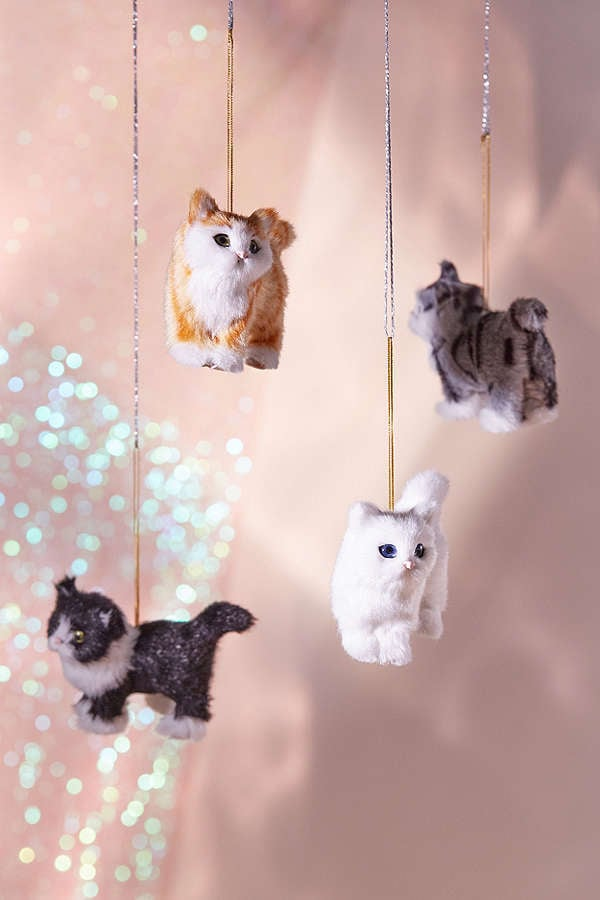 Urban Outfitters Plush Assorted Cat Ornament - Set of 4
