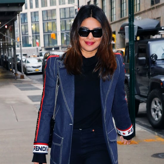 Priyanka Chopra's Fendi Denim Blazer February 2019